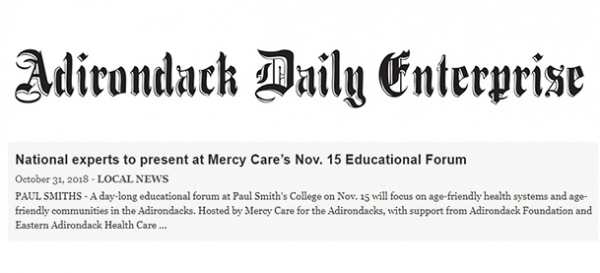 adirondack daily enterprise: national experts to present at mercy