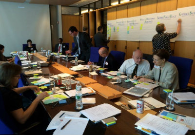 Funders share information on investments in palliative care at the recent convening.