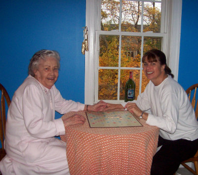 Rosemary Rawlins, right, and her mother in