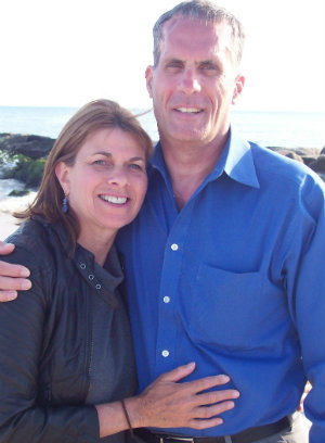 Rosemary Rawlins with her husband, Hugh.