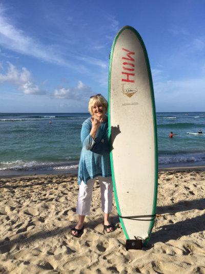 Amy Berman, on a recent trip to Hawaii.