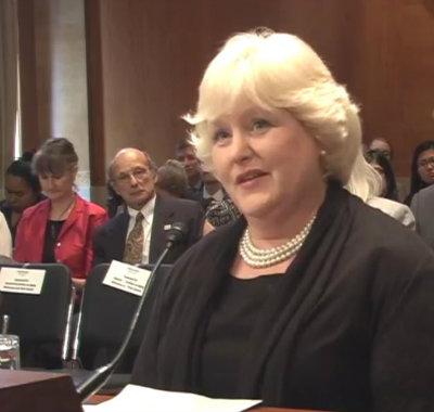 Amy Berman testifies before the Senate Special Committee on Aging.