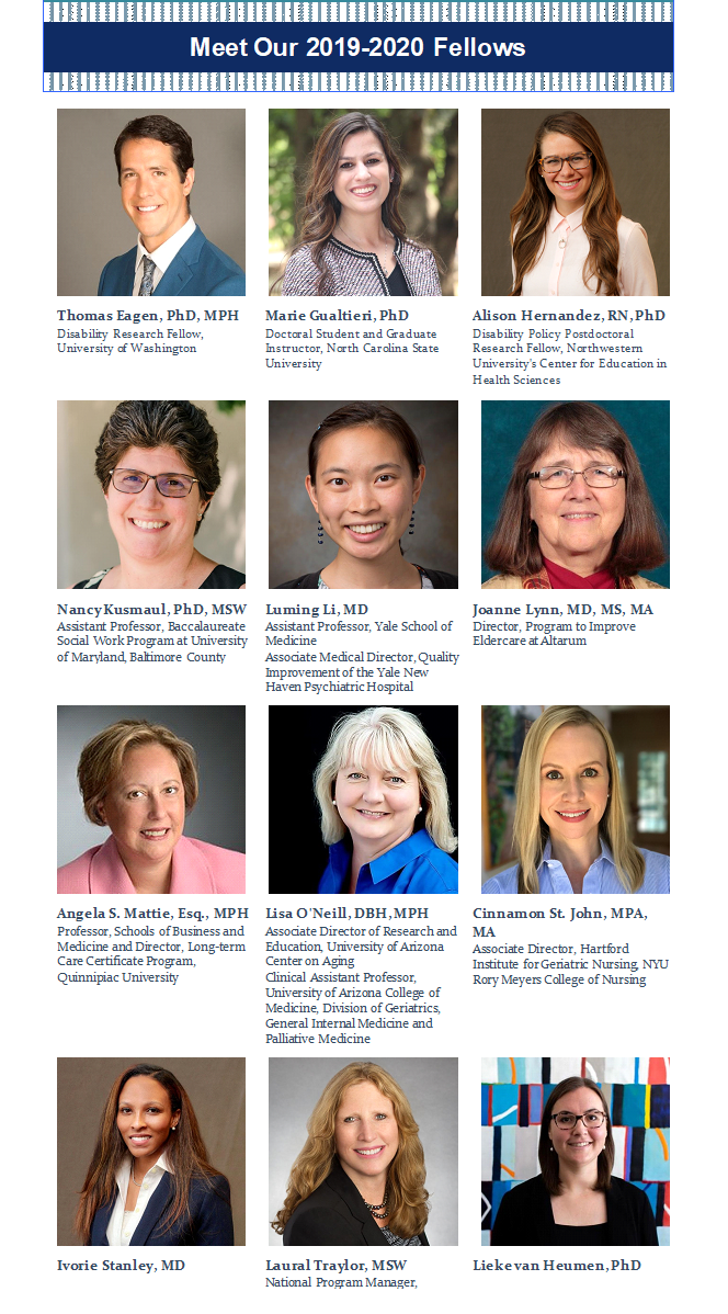 New Class of Health and Aging Policy Fellows Announced - The
